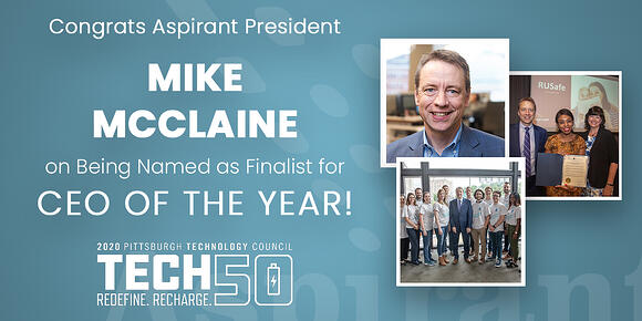 Pittsburgh Technology Council Names Aspirant President Mike McClaine as 2020 CEO of the Year Finalist