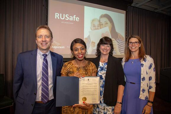 Aspirant and Women's Center & Shelter of Greater Pittsburgh Celebrate 'Connection of Hope Day' as Proclaimed by Mayor's Office to Release Domestic Violence Intervention App RUSafe